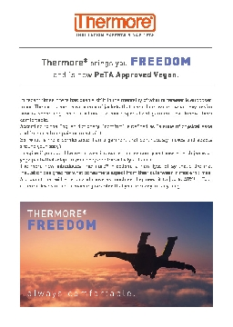 THERMORE® FREEDOM - ALWAYS COMFORTABLE (ENG)