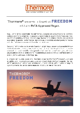 THERMORE® FREEDOM - ALWAYS COMFORTABLE (ITA)