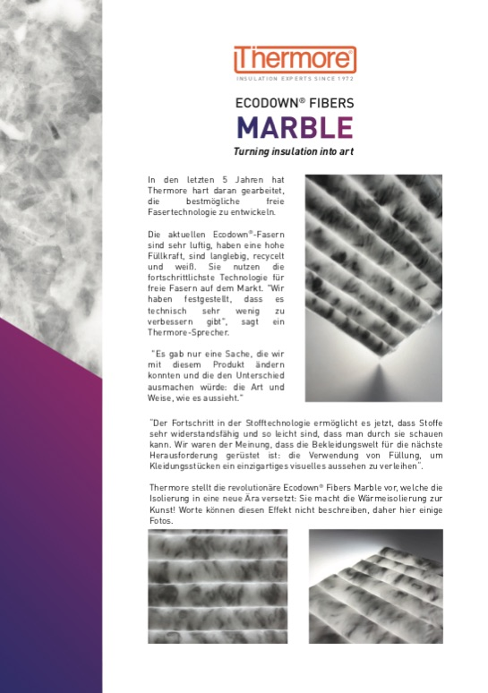 Ecodown® Fibers Marble (ENG)