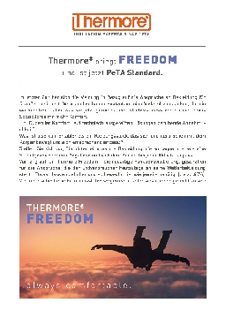 THERMORE® FREEDOM - ALWAYS COMFORTABLE (DEU)